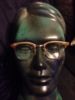 Vintage Shuron S/C USA Eyeglasses Alum 12 KGF Gold Filled Bridge  22-44-6 1/4