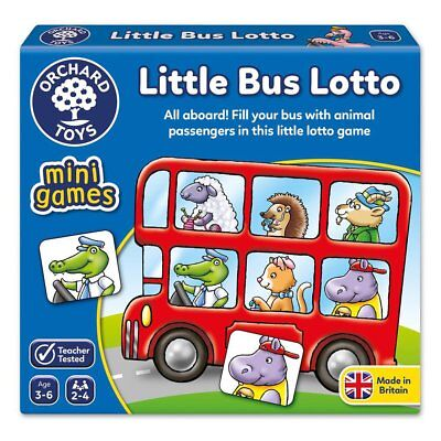Orchard Toys Little Bus Lotto Educational Kids Board Game NEW