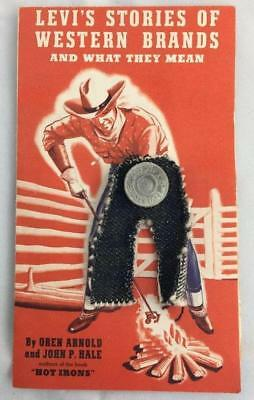 Rare Levi's Stories Of Western Brands Advertising Brochure With Denim & Button