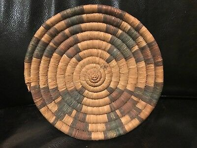 Beautiful Old Native Hopi Indian Second Mesa Tightly Coiled Basket