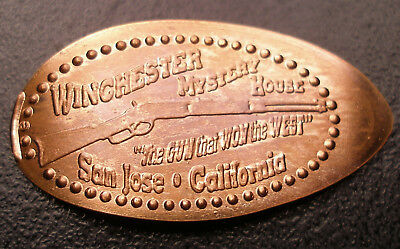 "Winchester Mystery House ""The Gun That Won The West"" Copper Elongated Penny"