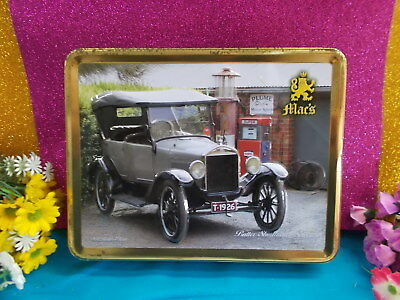 MAC'S COLLECT-ABLE TIN - 1926 MODELT FORD - 27 x 21 x 5 cm - EMPTY GC