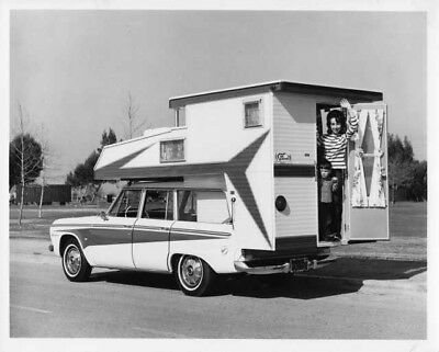 1965 Studebaker Wagonaire Convertible Camp Car Press Photo and Release 0065