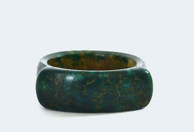Early 20th Century Chinese Hand Carved Carving Stained Ring 虯角秋撅