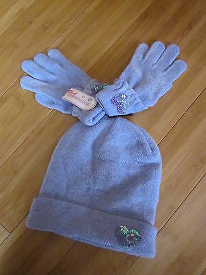 New HAT & GLOVES set GIRL 8 9 10 11 12 one size lavender purple