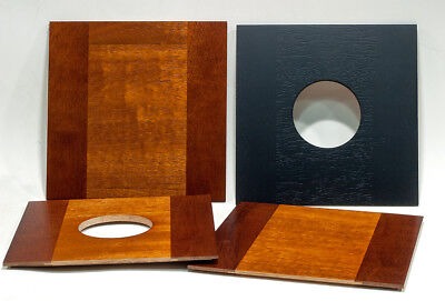 "1 Wooden Lens Board 175 mm x 175 mm for ROC 10"" x 12"" Camera, made of Mahogany"