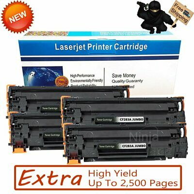 4 Pack CF283A 83A High Yield Toner For HP LaserJet Pro MFP M127fn M127fw M125nw