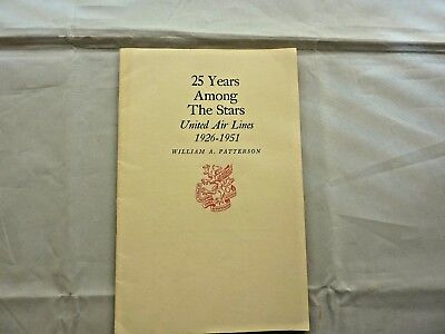 """Vintage United Airlines Brochure """"25 Years Among The Stars 1926-1951"""""""