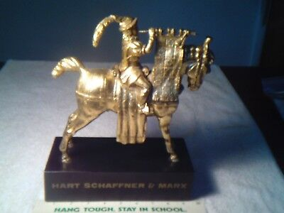 Hart Schaffner Marx Men's Clothing Advertising Statue Gold Horse Store Decor Lg