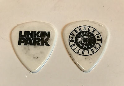 Linkin Park Guitar Pick 2007 Projekt Revolution Tour Issued White & Black