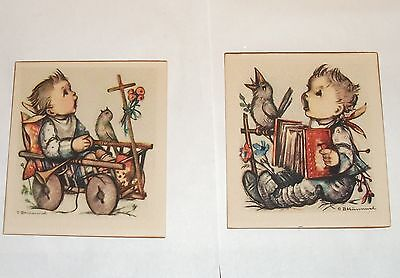 Pair Of Small Old Colored B. Hummel Prints