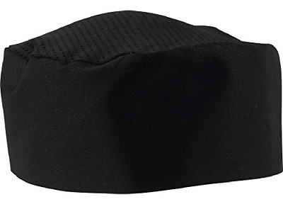 Black Chef Hat - Adjustable. One Size Fit Most (1)