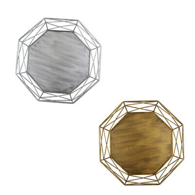 Geometric Shape Tray Hollow Out Vintage Gold/Silver Cake Stand Cake Tools