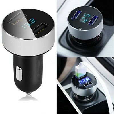 Chargeur Auto 5V/3.1A Charge Rapide Double Port USB Chargeur Allume-Cigare Grace