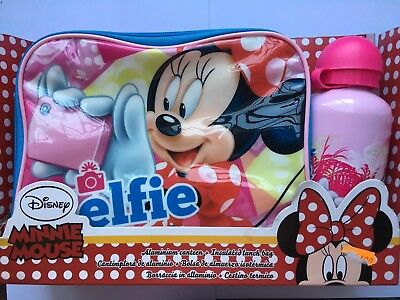 Disney Minnie Mouse Selfie Borraccia in alluminio e Cestino termico 31cm x 20cm
