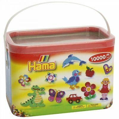 Hama 10,000 Beads in a Bucket - Pastel Mix