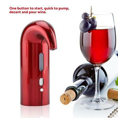 USB Rechargeable Electric Wine Aerator Smart Automatic Decanter Dispenser Red