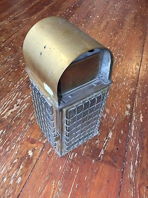 Antique Nautical Caged Kerosene Lamp