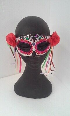 Day of The Dead Halloween Masquerade Eye Mask Pk 1