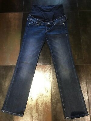 H&M Maternity Straight Denim Jeans Over Bump Size Uk 10 Eur 38