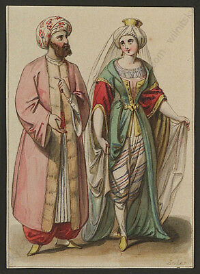 """Matthaeus Loder (1781-1828), """"Oriental Costumes"""", watercolor, early 19th century"""