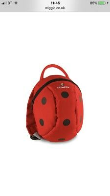 LittleLife Ladybird Toddler Daysack 2l Capacity Top Grab Handle And Reins