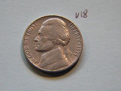 1975 Nickel 5c Five Cent coin, Jefferson 5 cents USA