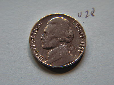 1964 D Nickel 5c Five Cent coin, Jefferson 5 cents USA