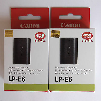 2x LP-E6 Batteries For Canon EOS 7D 5D 6D 60D 60Da Mark II III Grip LPE6 E6 E6E