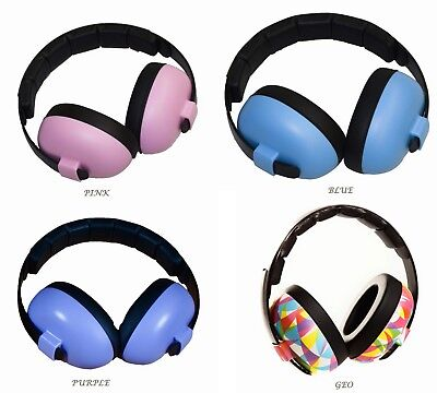 BABY Childs Banz Ear Defenders Earmuffs Protection 3months+ Baby BLUE