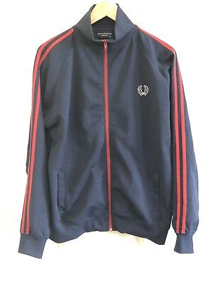 ~FRED PERRY~Vintage Track Suit Top Blue/Red Uk M ~Terrace Casuals 80s~Mod~