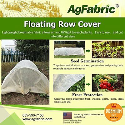 Agfabric Warm Worth Floating Row Cover & Plant Blanket, 0.55oz Fabric of 10x50ft