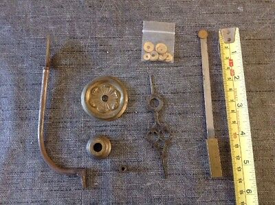 Antique Grandfather Longcase Clock Bell Stand Hand Dial Washers Centres Hanger