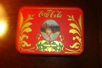 Vintage Coca-Cola Playing Cards in Tin