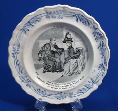 French Transferware 1800's Plate - Le Divorce