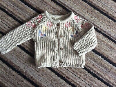 Girls Cardigan Nutmeg BNWOT 3-6 Months