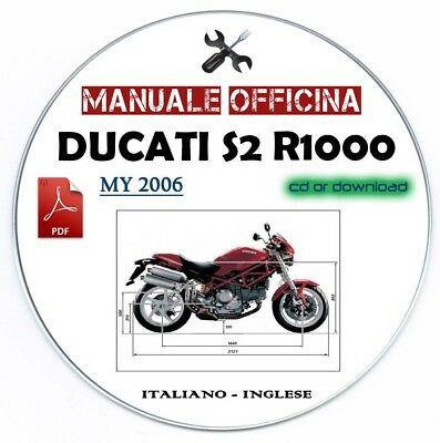 Manuale Officina Ducati S2 R 1000 My 2006 Manutenzione Workshop Manual Service