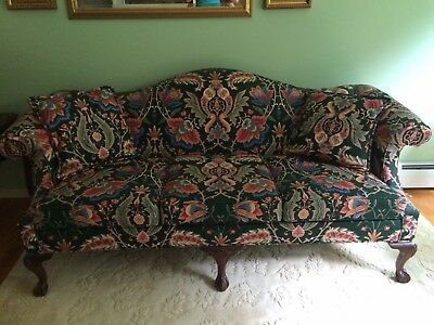 Ethan Allen camel back, ball and claw sofa