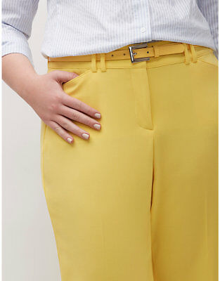 New Lane Bryant Lena Yellow Trousers T3 Tighter Tummy Pants 3X 24S NWT $69