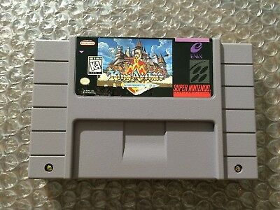 King Arthur and the Knights of Justice (Super Nintendo, SNES) Authentic - Tested