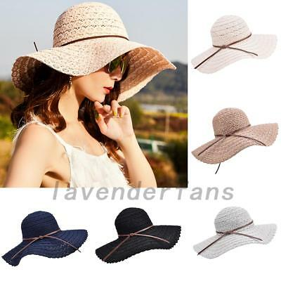 Quality Ladies Summer Straw Foldable Travel Sun Hat Women's Beach Caps Bowknot