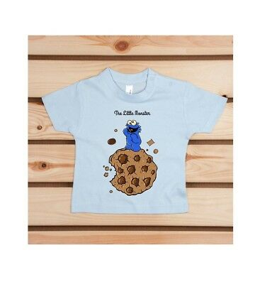 Craquant T-Shirt Baby Pampling The Little Monster  100% coton neuf  6/12 mois