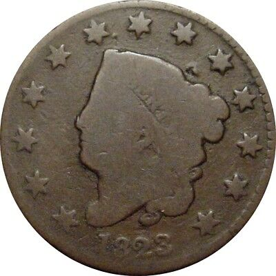 1823 Coronet Cent--Attractive Key Date