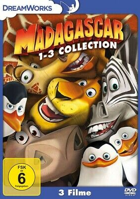 Madagascar 1-3 Collection (DVD) 3Disc Dreamworks - Universal 8314806 - (DVD Vide