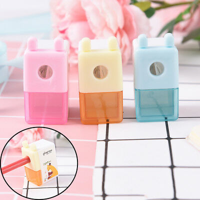 Mini 1 Hole Cartoon Pencil Sharpener For Student Kids Gifts Office Stationery sO