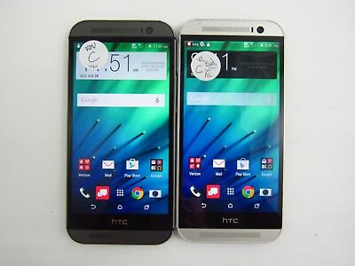 Lot of 2 HTC One M8 HTC6525L Verizon Check IMEI Grade C 3-149