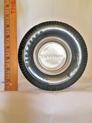 "Vintage Firestone Deluxe Champion  6"" Tire Ashtray/coin Tray Collectible"