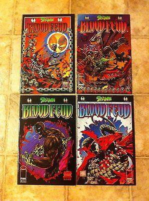 Spawn Blood Feud #1, #2, #3, and #4 (complete set) - NM