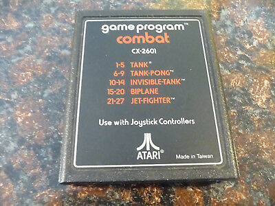 Atari 2600 Game Combat for use with Atari 2600 Video Game System