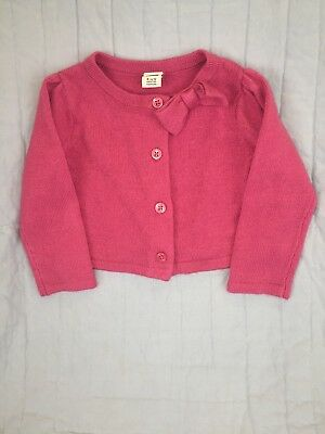 Janie And Jack 6-12 Months Girls Pink Mini Sweater With Bow